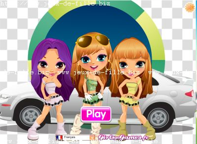 jeu de fille habillage de fille car washing
