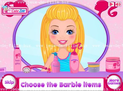 Jeu de barbie : maquillage de barbie