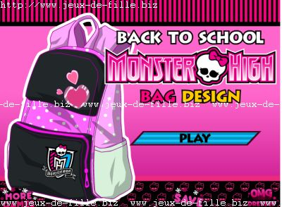 le cartable monster high