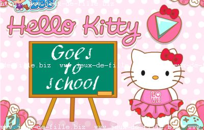 Jeu de fille : Hello kitty va à l'ecole